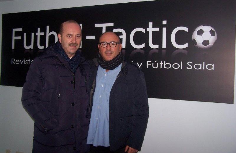 Con Juanjo Vila en las oficinas de Fútbol Táctico en Carballo.