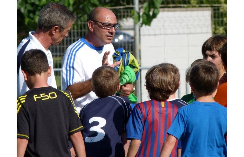 Con Pichi Alonso en un aula formativa de fútbol base celebrada en Barcelona.
