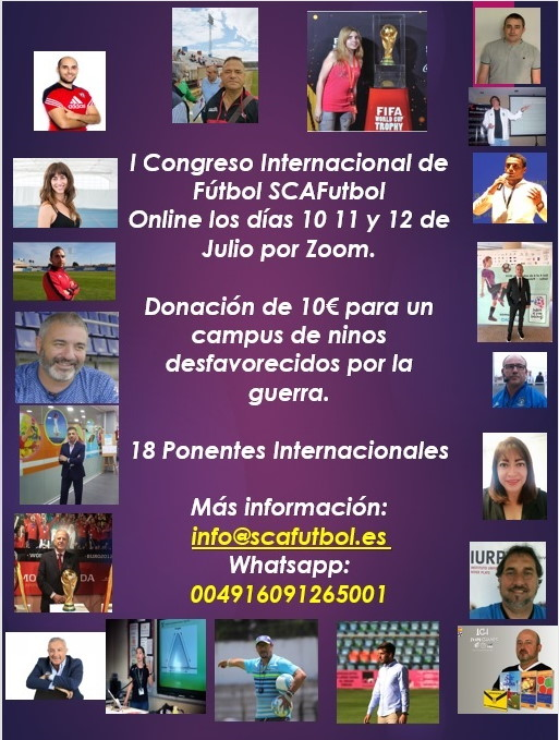 I Congreso Internacional de Fútbol organizado por SCAFutbol Academias