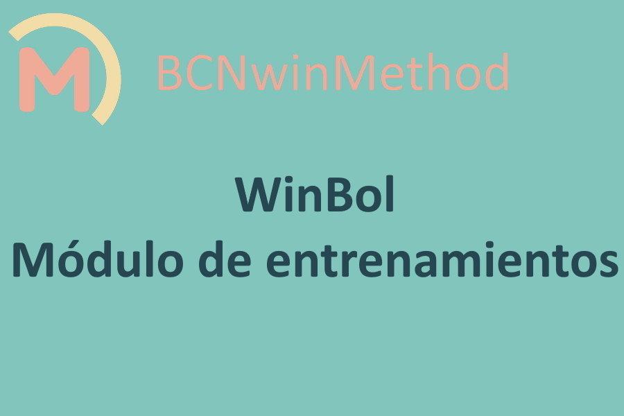 WinBol-Fútbol. Módulo de entrenamientos. Componentes