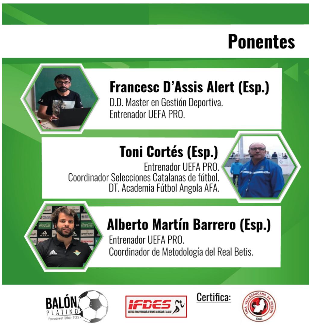 II seminario Colombo-español de fútbol Online vía zoom