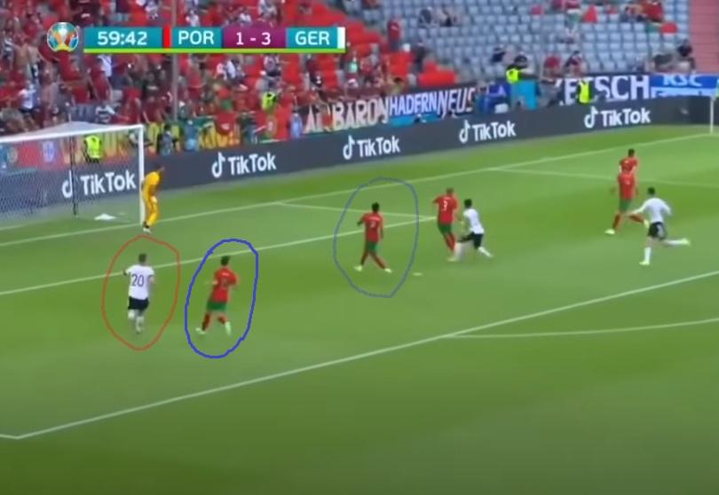Errores defensivos en el Portugsal-Alemania